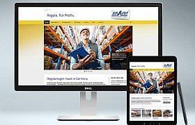 Webdesign von Studio2 www.brass-regalbau.de