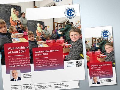 Flyer und Poster Weihnachtspäckchenaktion 2016