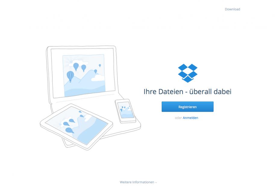 Webdesign Dropbox
