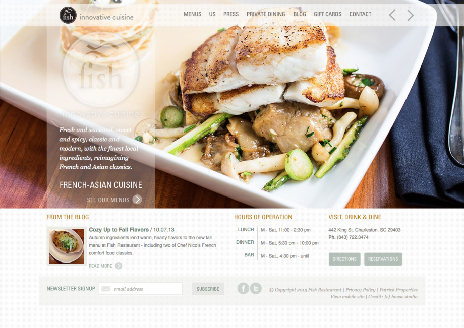 Webdesign Fischrestaurant