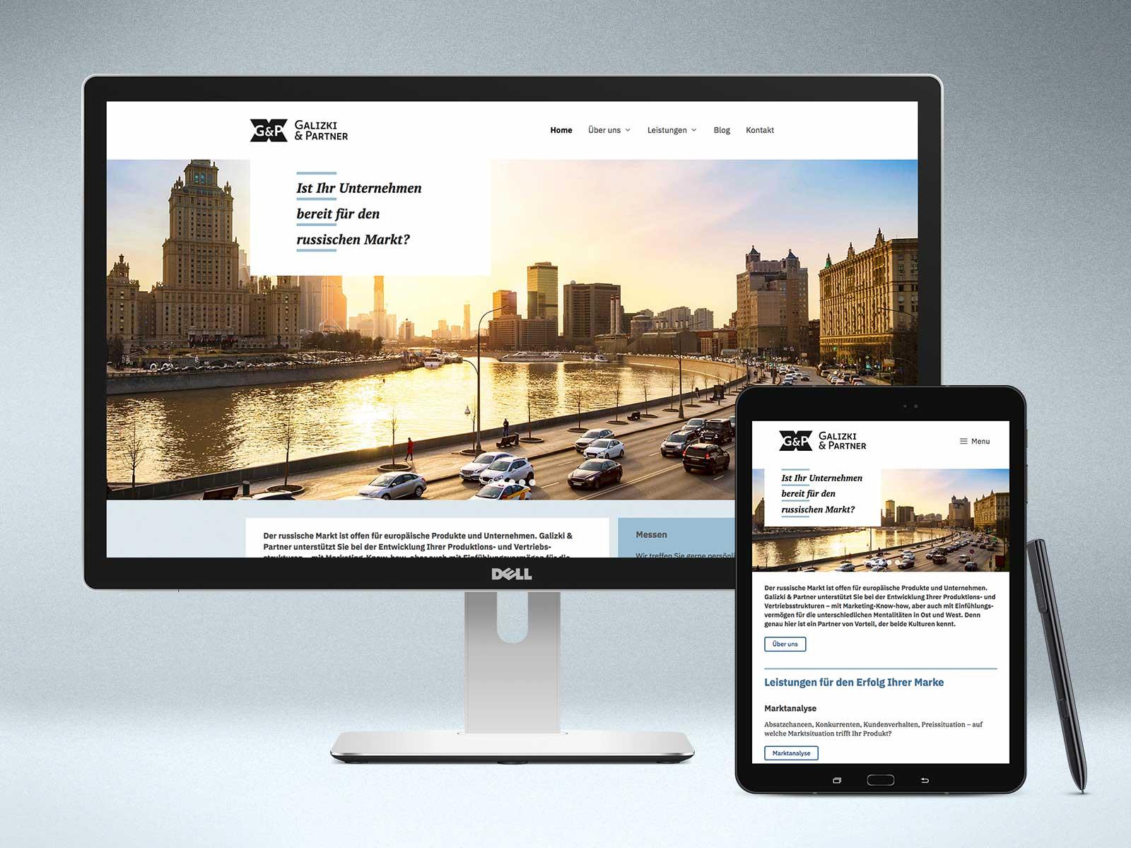 Webdesign Website www.galizki-partner.com
