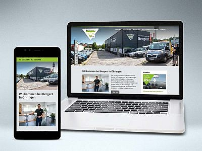 Gergert Autoteam Website von Studio2