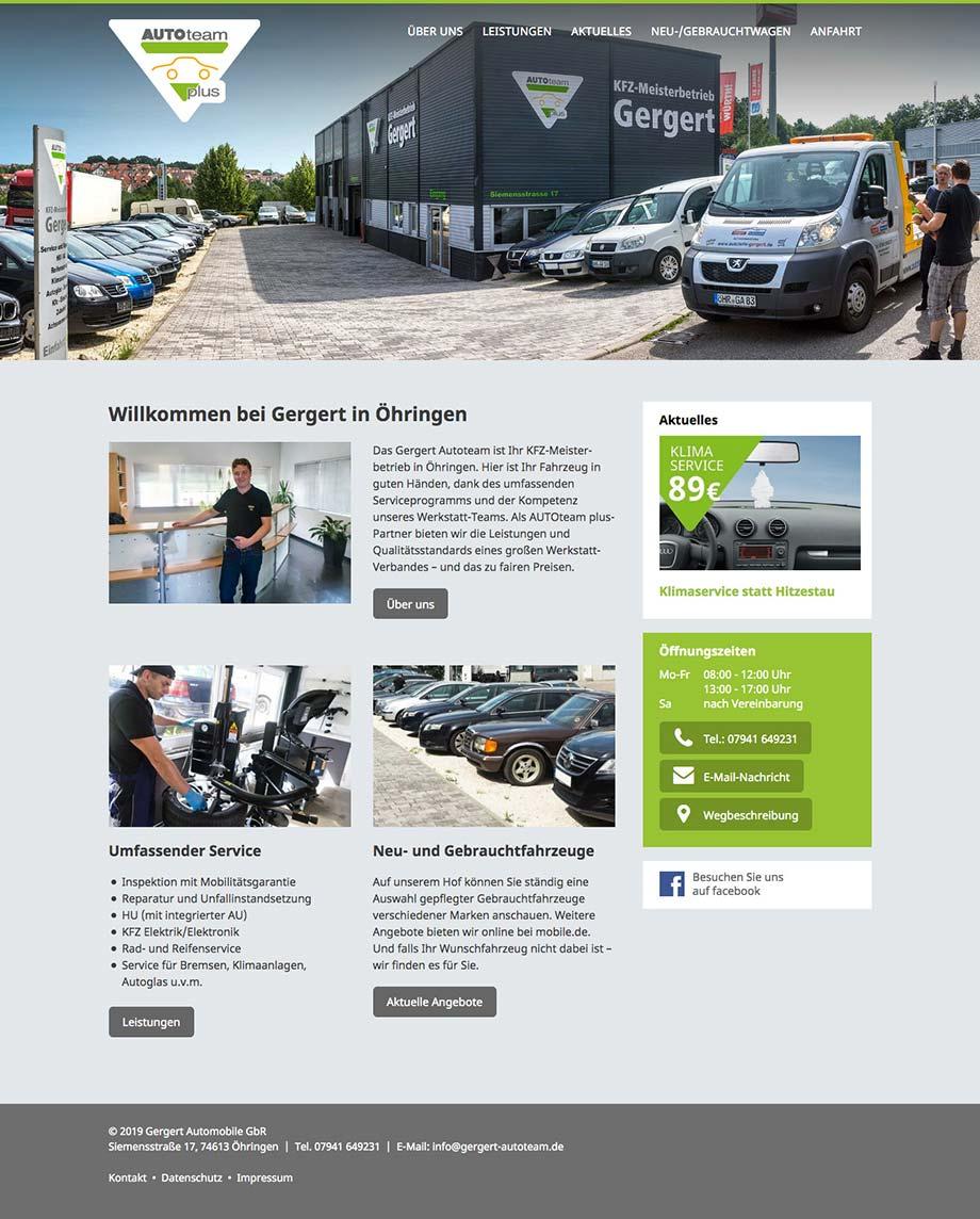 Webdesign Website www.gergert-autoteam.de