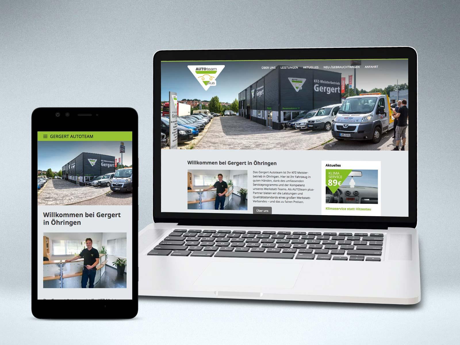 Gergert Autoteam Website von Studio2