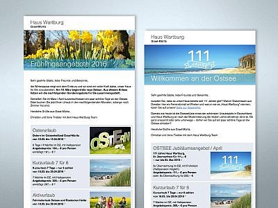 E-Mail-Newsletter Design von Studio2