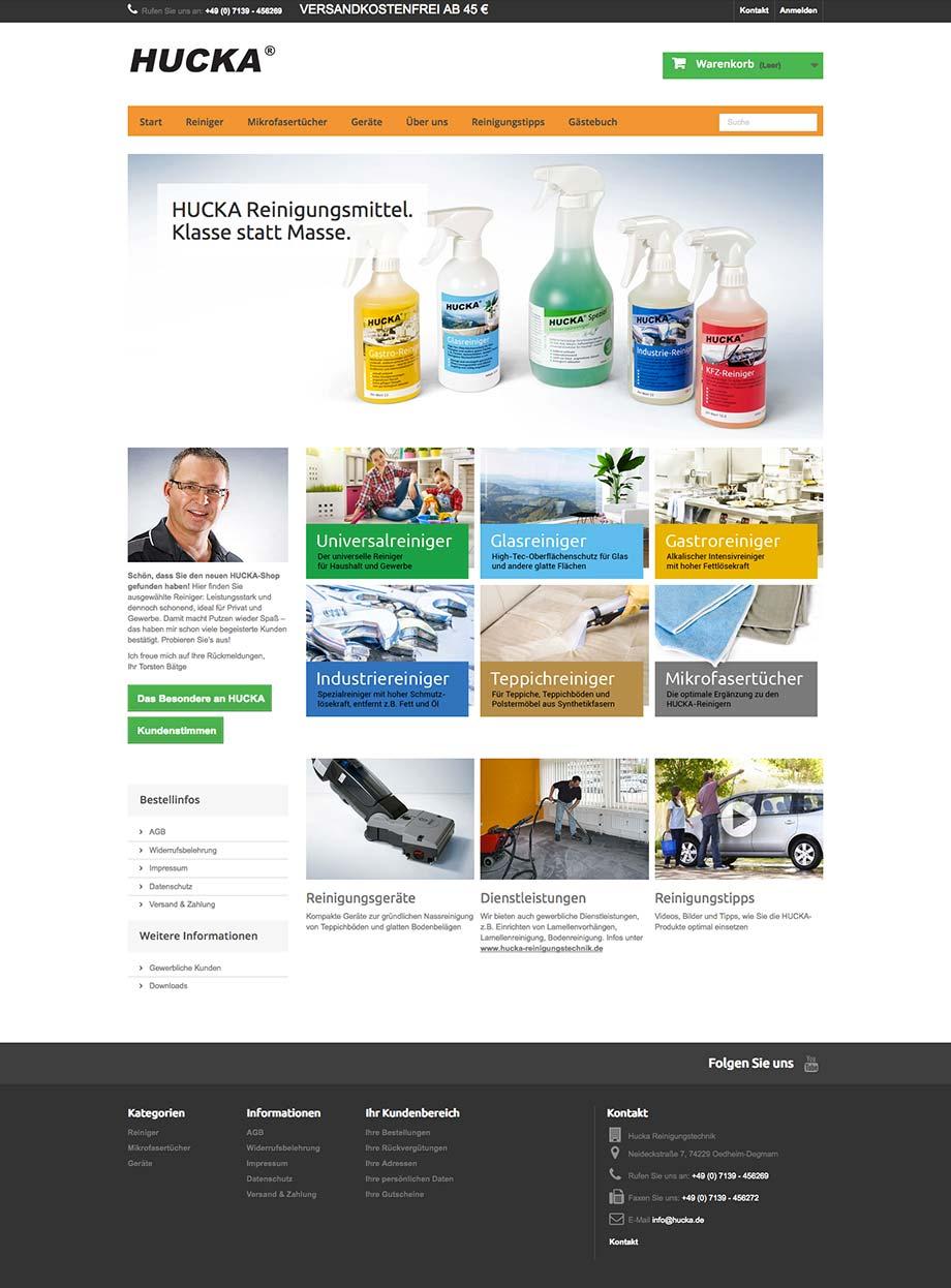 Webdesign www.hucka.de von Studio2