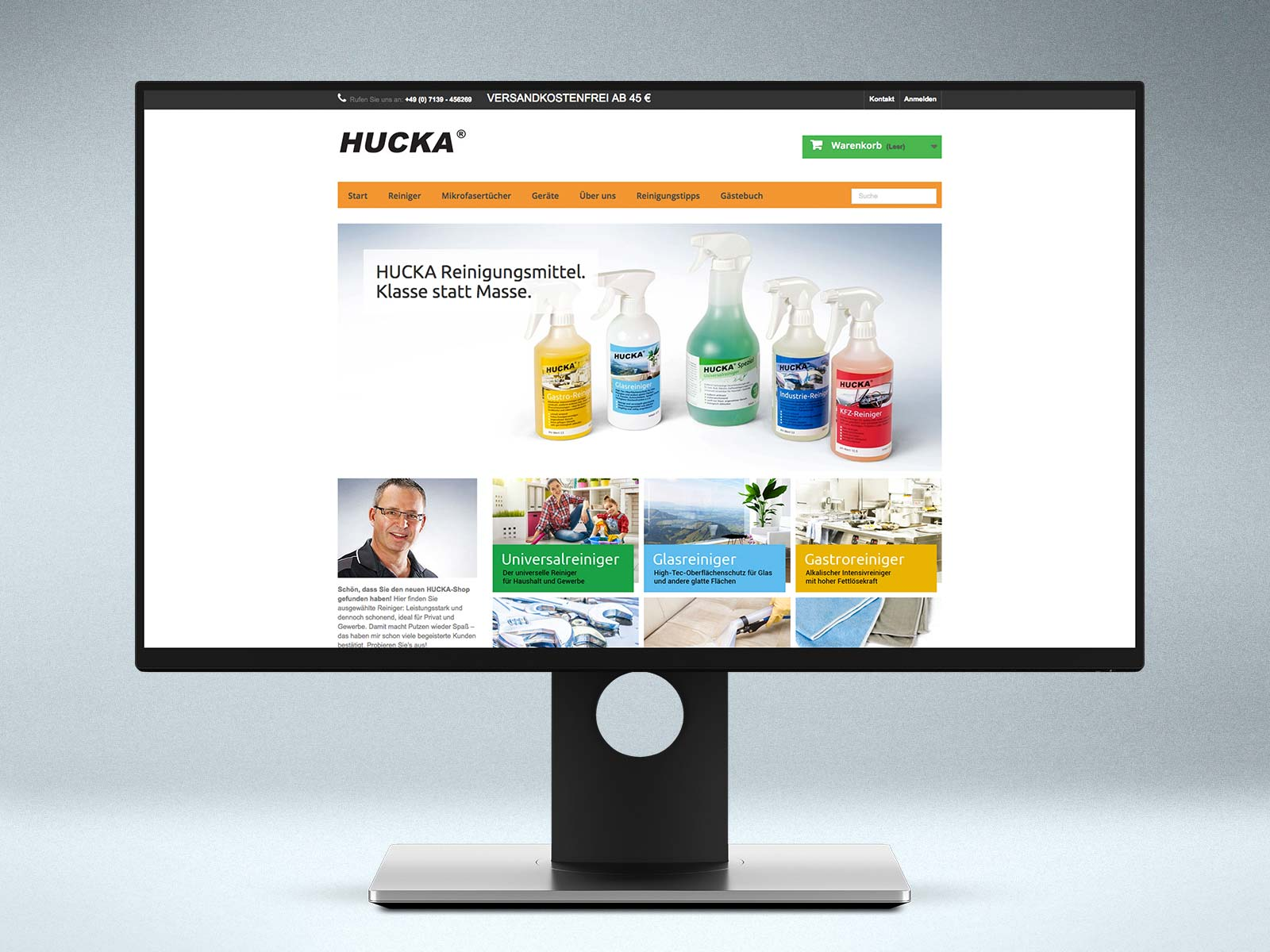 Webdesign Onlineshop www.hucka.de