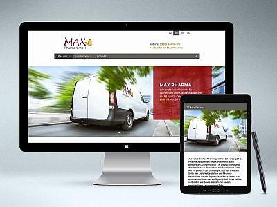 Webdesign www.max-pharma.de