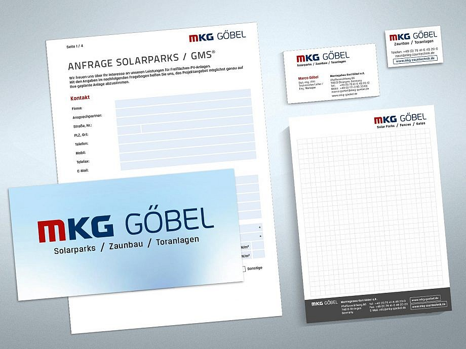 Corporate Design von Studio2 für MKG Göbel