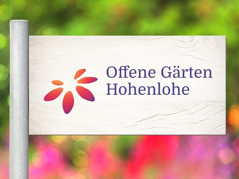 Logodesign für Offene Gärten Hohenlohe
