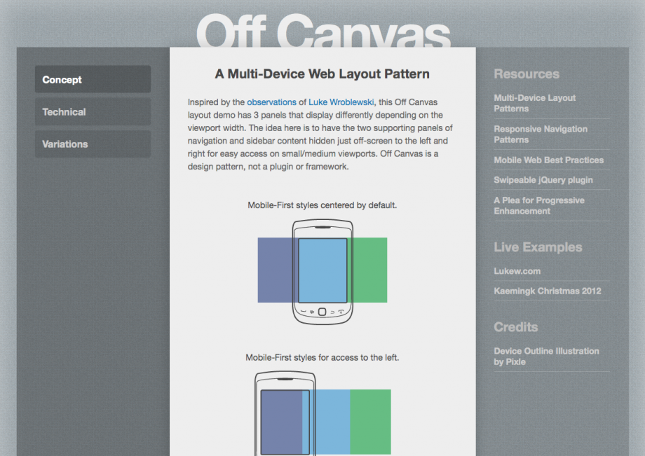 Webdesign Off-Canvas
