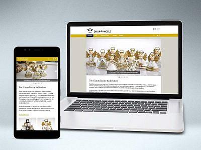 Shop4angels, Design und Aufbau Onlineshop