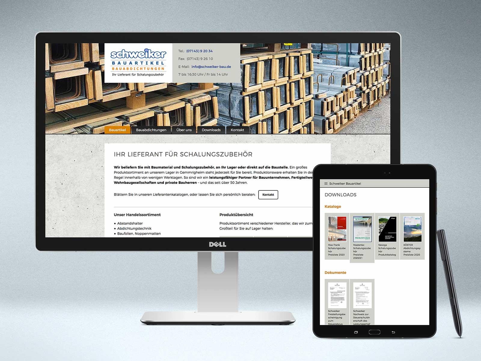 Webdesign www.schweiker-bau.de