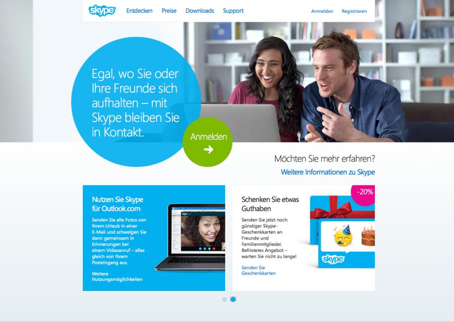 Webdesign Skype