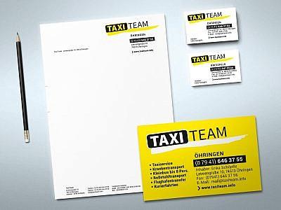 Geschäftspapiere für Taxi Team, Bretzfeld und Öhringen