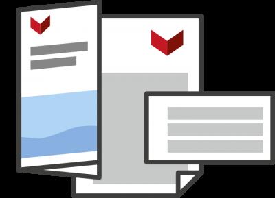 Printmedien Gestaltung Infomaterial Bestellunterlagen
