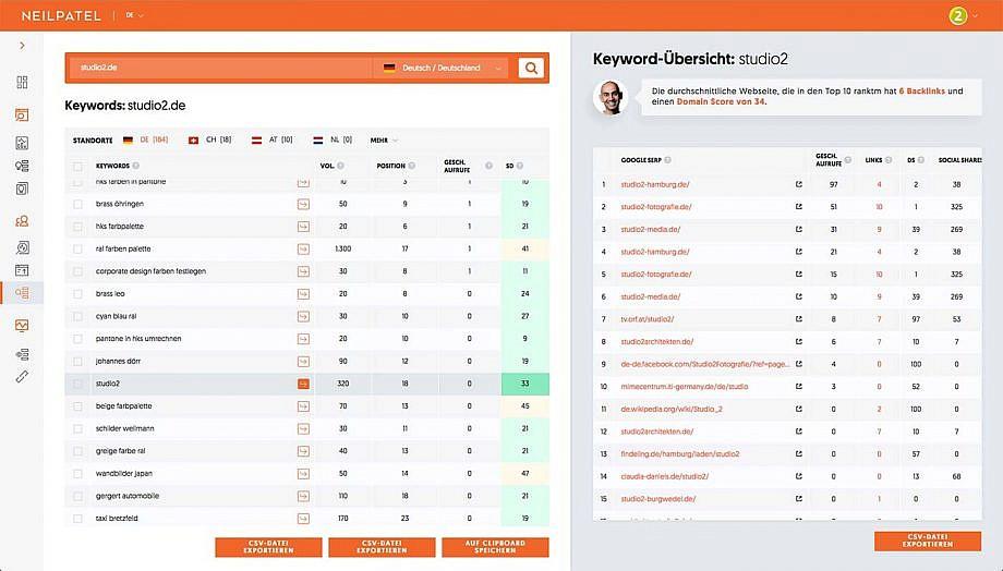 SEO Keyword-Recherche Tool